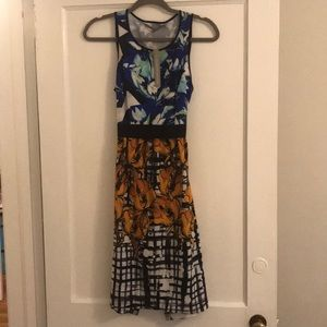 NWT Clover Canyon multipattern dress